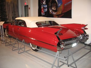 Red 50s Car with Fins