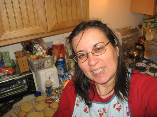 Self-Portrait, cookies in background