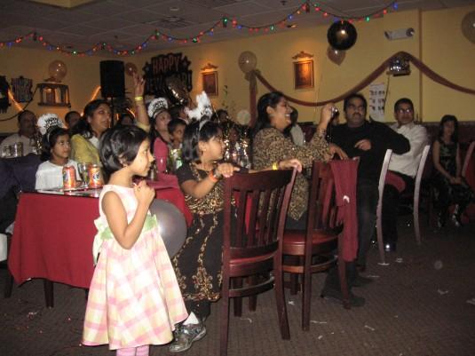 Children watching the performance