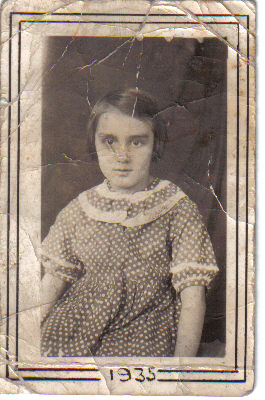 My mom's school photo, age 6