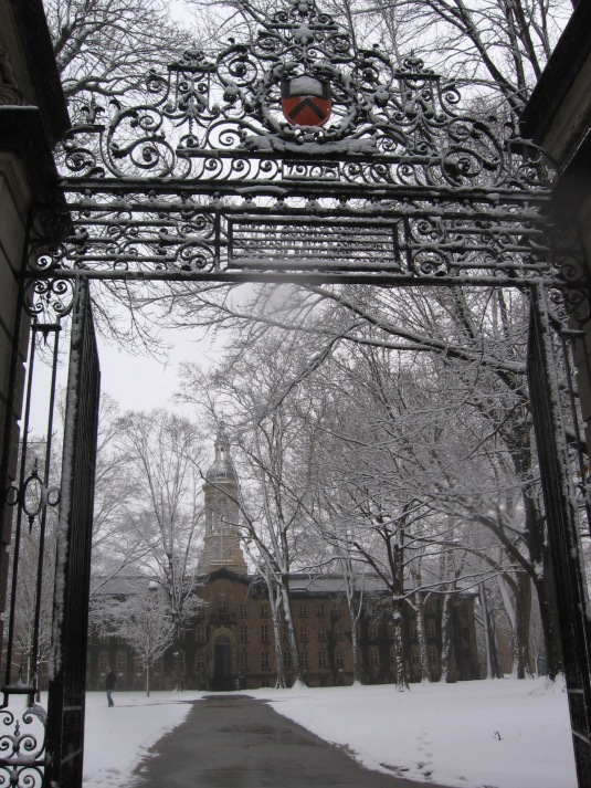 """looking through the Princeton U. gate"