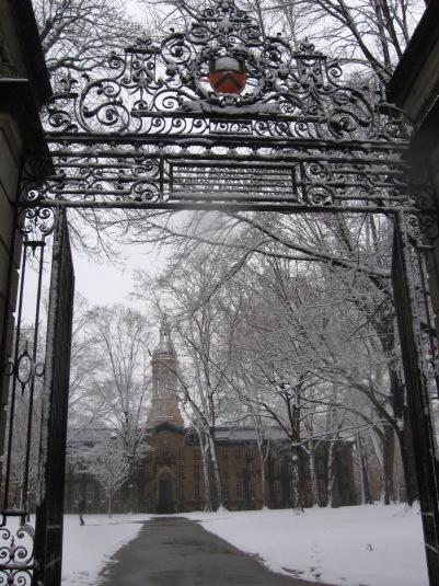 """""""looking through the Princeton U. gate"""
