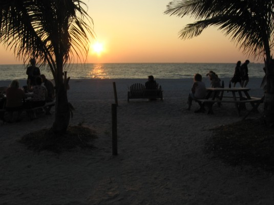 Beautiful sunset on Captiva Island