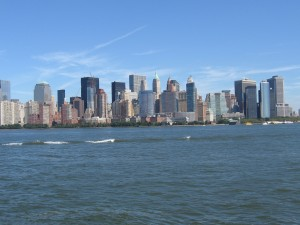 View of Lower Manhattan from the ferry