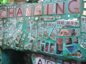 "Magic Gardens- Tile word, "" Changing, and a mirror image."