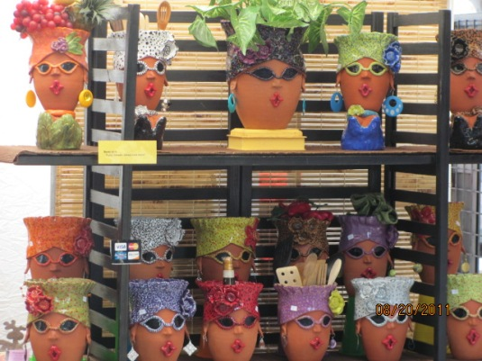 Whimsical Terracotta Pots with faces